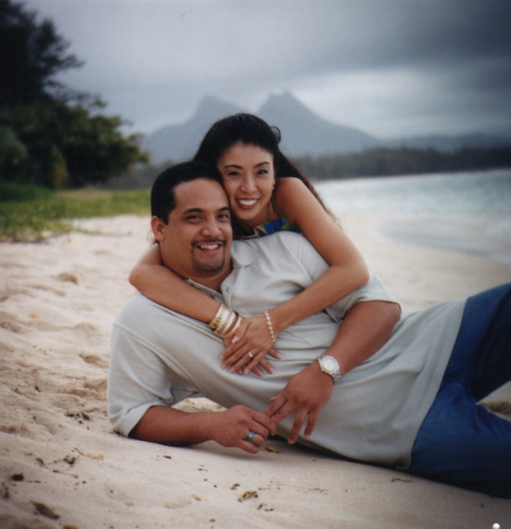 We took our engagement pictures on beautiful Waimanalo Beach; late afternoon