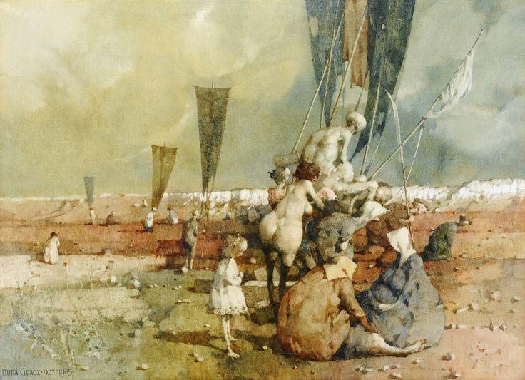 Obraz Jurajski 1985, olej na płótnie, 73x100
