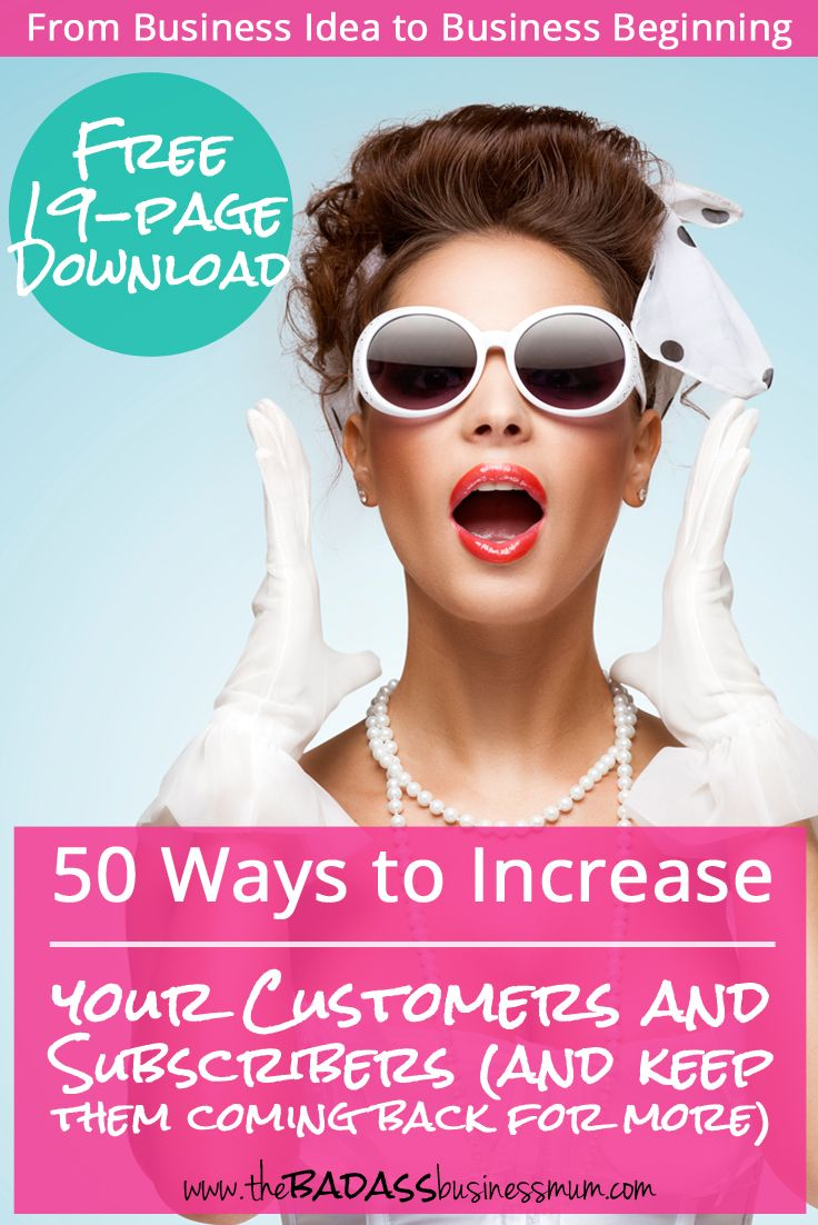 Find out 50 ways to increase your customers and subscribers, build brand loyalty and make people fall in love with your business. Get your free download and discover how to use freebies, discounts and bonuses to effectively grow your business.
