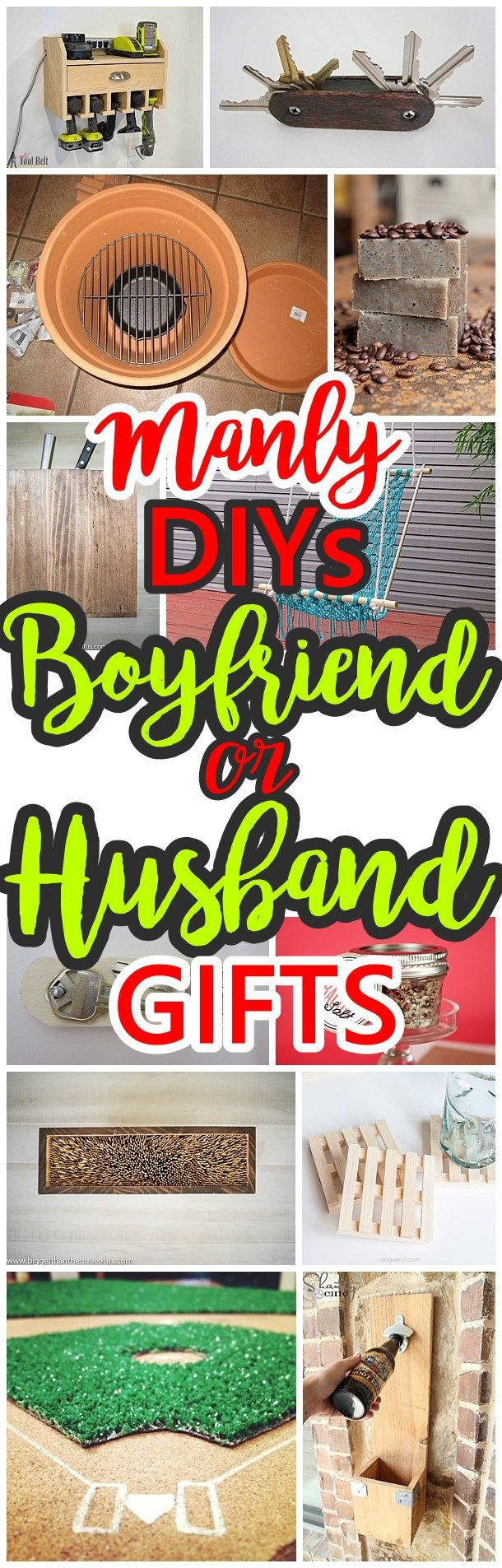 Сделай сам Manly Идеи подарков для сожителей, Мужья Sons, братья, дядья, кузены или любой парень в вашем списке подарка!  - DIY Рождество, день рождения, День отца, градация подарков или в любое время - мечтая DIY