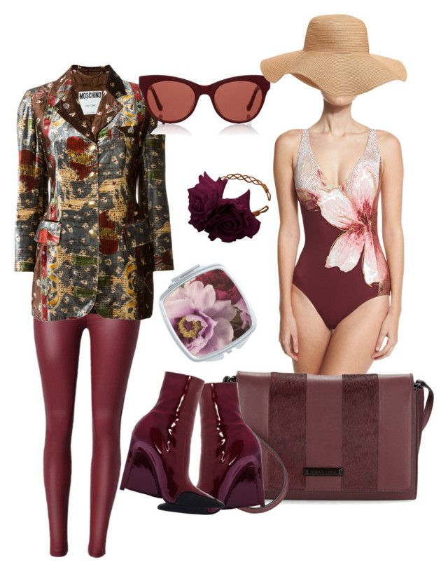 """""""hitati"""" by georginalan on Polyvore featuring Carmen Marc Valvo, Kendall + Kylie, Moschino, The Row, Rock 'N Rose y Old Navy"""