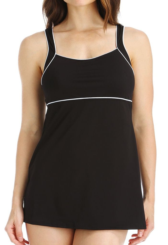 a8a2783d05f Women's Speedo 7231000 Endurance Piped Sheath One Piece Swim Dress#Endurance,  #Women, #Speedo