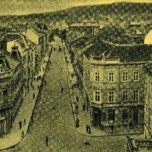 Sopron - Látkép - Erzsébet utca