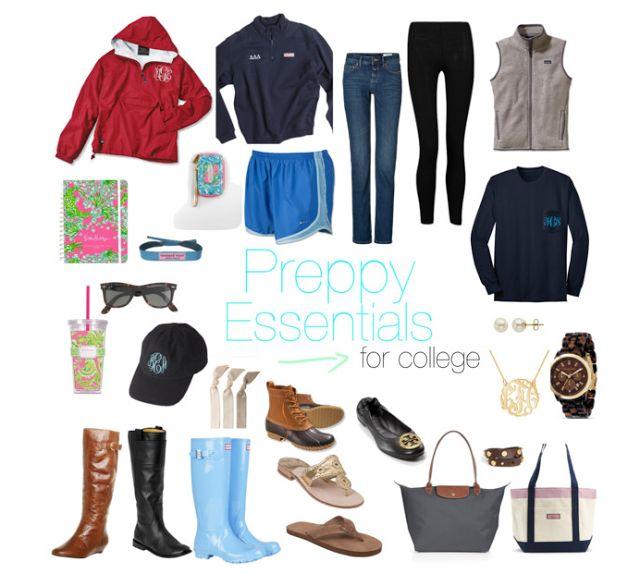 Prep Essentials: Essentials For A Preppy College Closet. See the original blog post here! prepessentials.blogspot.com