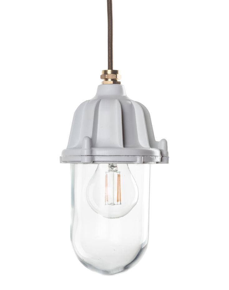 White industrial lantern bathroom and outdoor lights factorylux