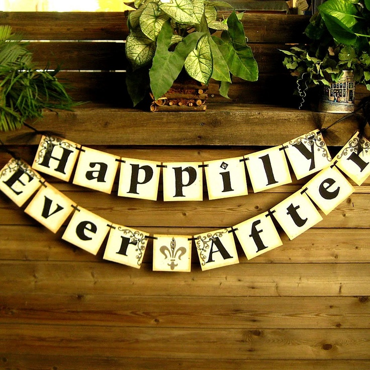 HAPPiLY EVER AFTER Wedding Banner/Garland/ by BannerLUV on Etsy