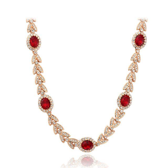 ЧЖОУЯН ЮВЕЛИРНЫХ Высочайшее Качество ZYN276 Классический Красный Кристалл Свадебная Ожерелье Роуз Позолоченные Fashion Jewellery Никель Бесплатно Кристалл Подвеска