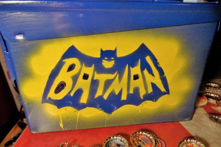 Batman Lunch Box / Ammo Box / Storage Container by StraightOuttaComics on Etsy