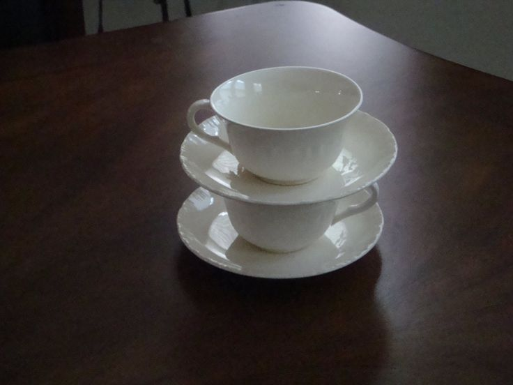 Wedgewood England Shell Edge Cream Tea Cup and Saucer! by BucketListGarnishes on Etsy