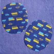 Kniestukken met auto's; plak ze op je broek, t-shirt, kussen etc.
