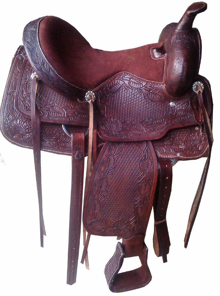 """16"""" western saddle for sale, leather saddle, tack equestrian, barrel racer sadle"""