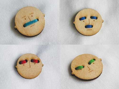 Пуговки  - мордочки mr Button