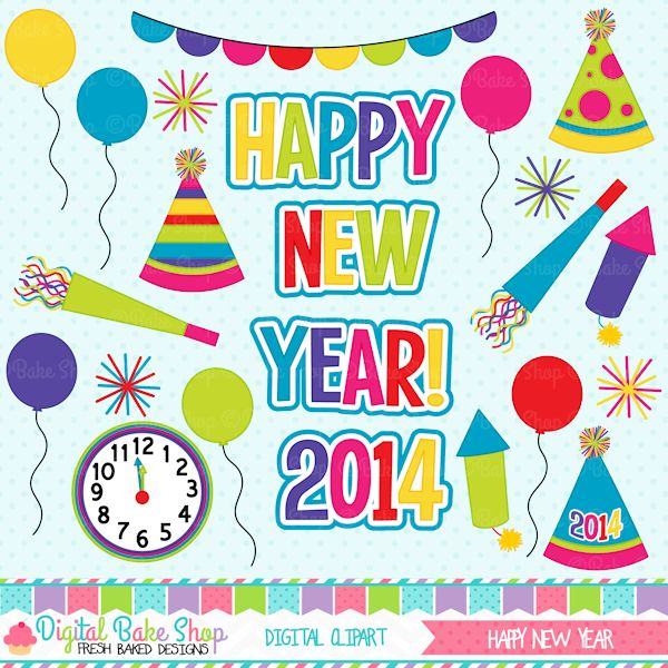 Happy New Year This Clipart Set Is Perfect For Your Years Projects And Crafts