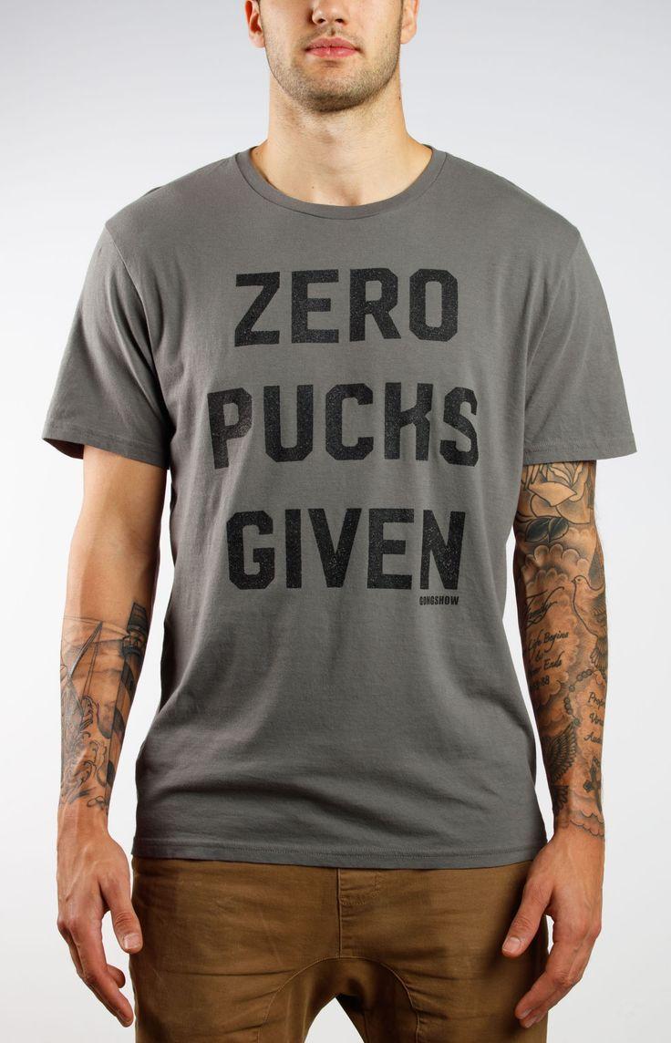Zero Pucks Given Mens Hockey Tee - Gongshow Gear - Lifestyle Hockey Apparel