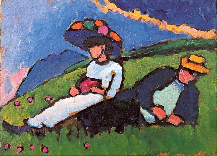 Jawlensky and Werefkin, 1909.  Gabriele Munter.  A German expressionist painter at the forefront of munich avant garde art in the early 20th century.