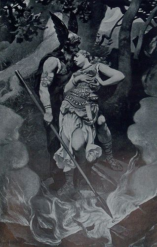 Odin and Brunhild by K. Dielitz