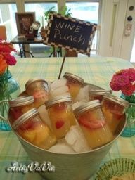 LOVE this mason jar wine punch. Super fun for a girls night in or summer party.