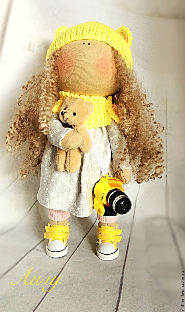 Купить Куколка Лилу - желтый, кукла ручной работы, кукла, кукла в подарок, кукла…