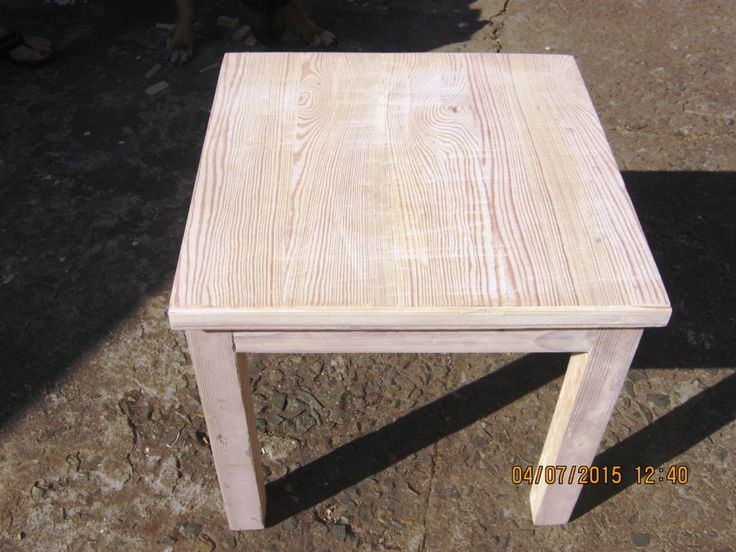 Beautiful side table made by Peter Mulder using Heart Eco reclaimed Baltic Pine. Contact Peter Mulder on 082 875 6793