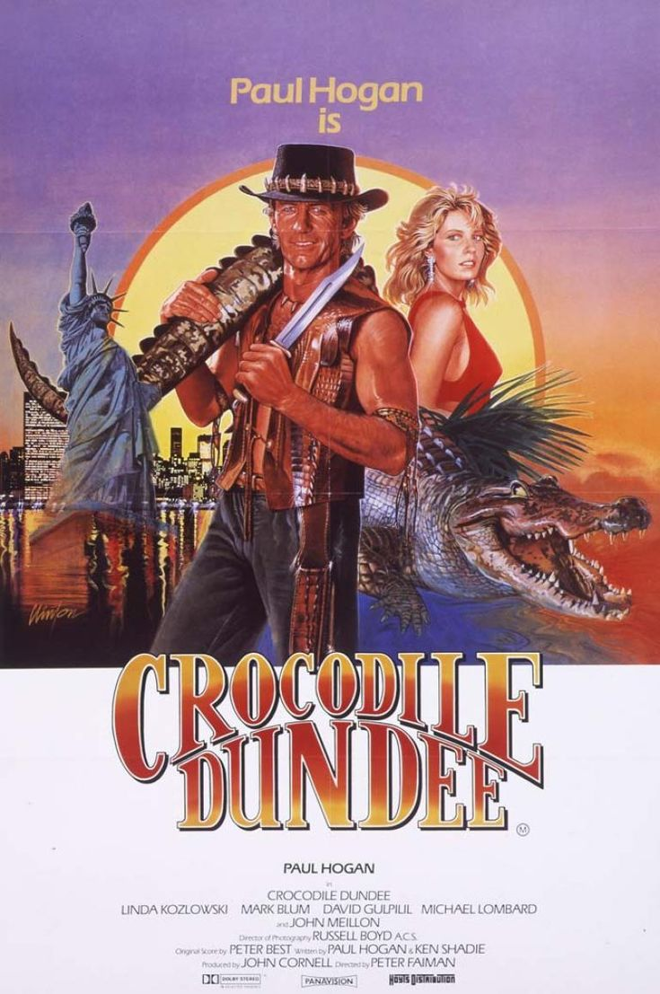 Crocodile Dundee Google Search Cocodrilo Dundee Dundee Carteles De Peliculas Famosas