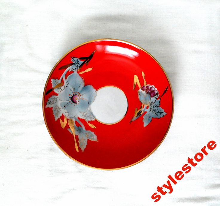 Тарелка блюдо блюдце красное серые цветы керамика (6479152156) - Aukro.ua – больше чем аукцион