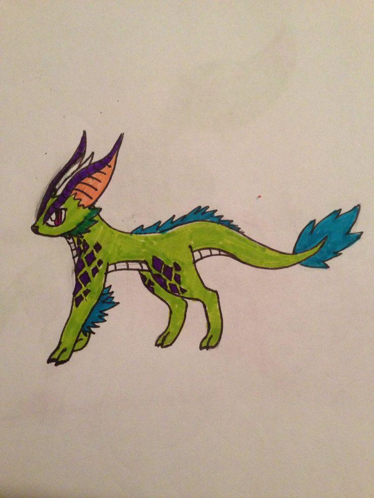 Zelfgemaakte dragon type eeveelution.
