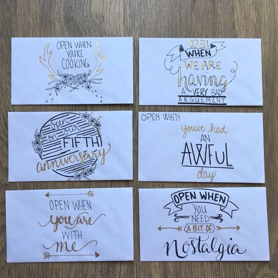 Open When Letters great for anniversaries by TheDelicateDinosaur