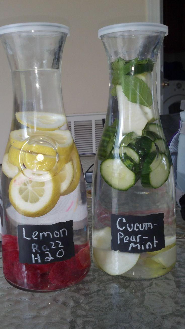 Cucumber Pear Mint Water - Raspberry Lemon Water