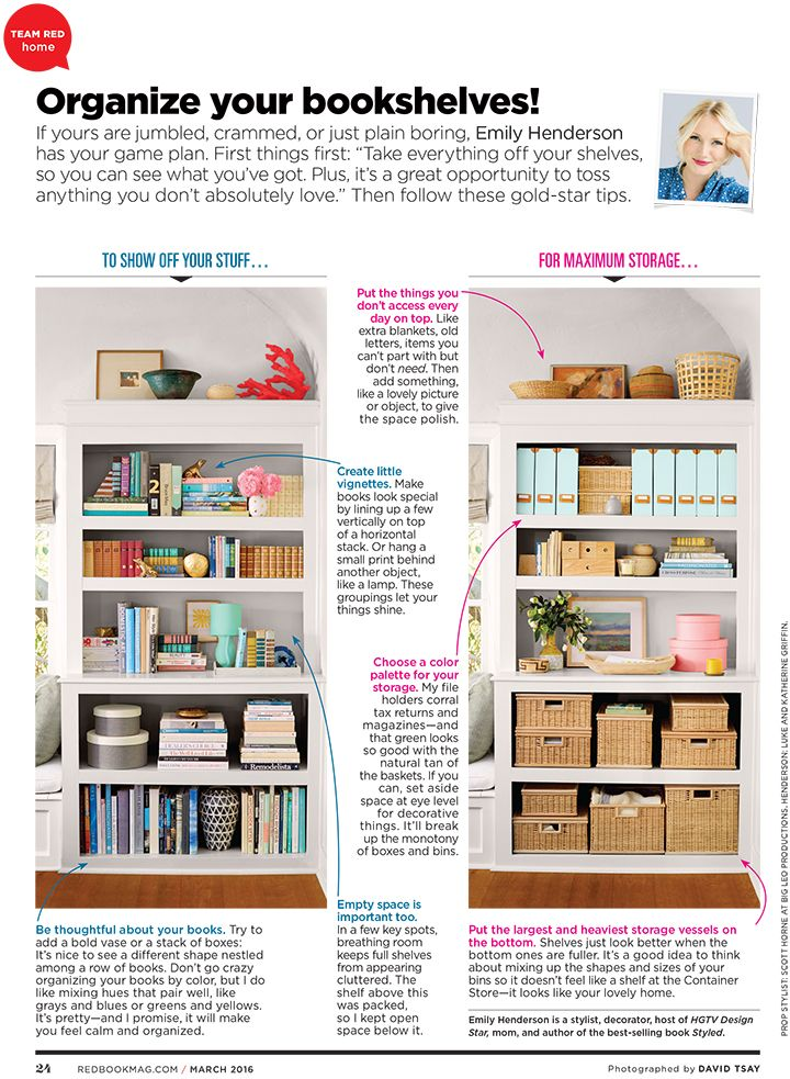 Style by Emily Henderson - How to Style Your Bookcase if You're A Hoarder, A Collector, or A Book Worm