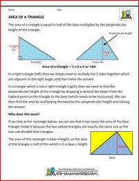 geometry formulas triangles image