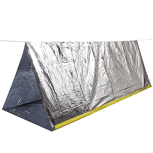 Camping Emergency Blankets - YiZYiF Emergency Mylar Thermal Blankets Thermal 2 Person Camping Survival Shelter Tent for Camping Hiking *** Be sure to check out this awesome product.