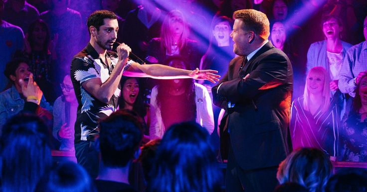 James Corden and 'Girls' actor Riz Ahmed hurl insults about weight, lack of talent in heated 'Late Late Show' rap battle segment Drop The Mic.