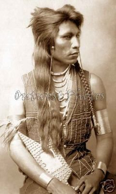 "1890'S photo ""Rabbit Tail"" Shoshone Native American Indian U.S. Army Scout"