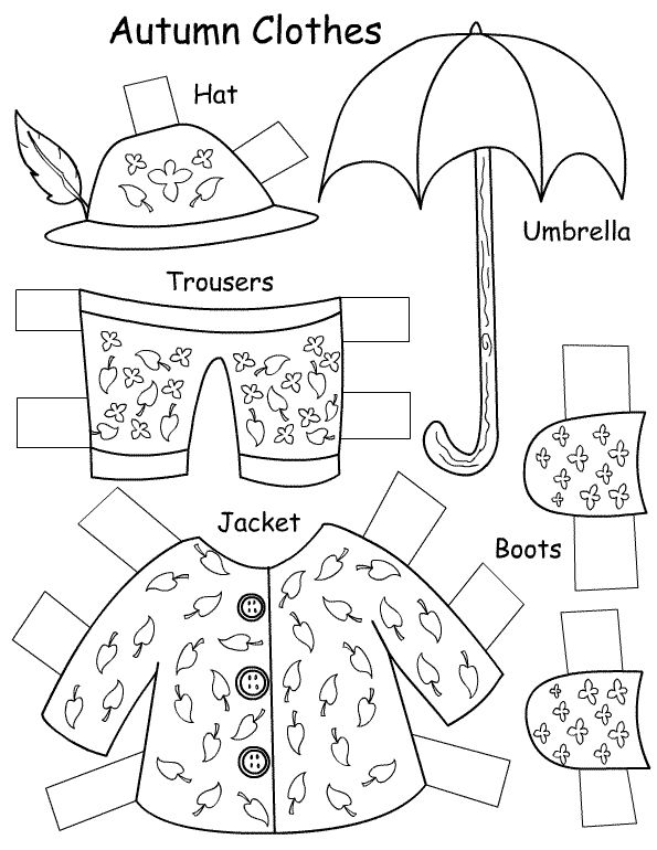 SEASONS CLOTHES PAPER DOLL | learningenglish-esl