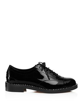 104a7449b88 Jimmy Choo - Women s Reeve Crystal-Trimmed Patent Leather Oxfords ...