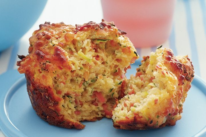 Savoury mighty muffins (interesting...this recipe has 1/4 cup fruit chutney in it!)