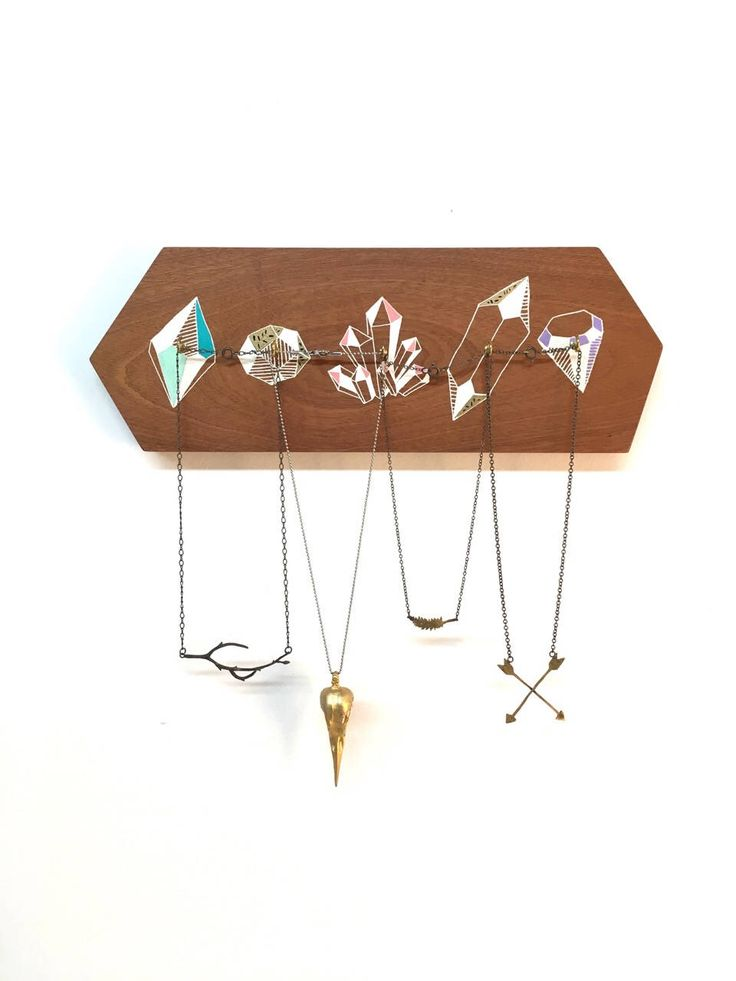Jewelry Holder, Crystal Gift, Geometric Decor, Crystals and Minerals Hook, Girlfriend Gift, Gemstone Gift by nicandthenewfie on Etsy https://www.etsy.com/au/listing/550959438/jewelry-holder-crystal-gift-geometric