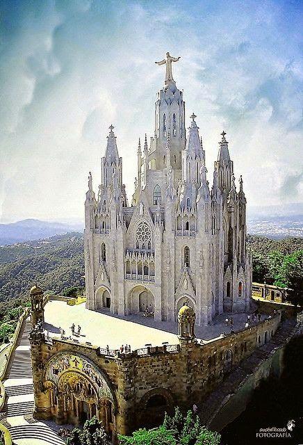 Santuari Del Sagrat Cor, Tibidabo, Barcelona -- the place I couldn't find when I was there last!