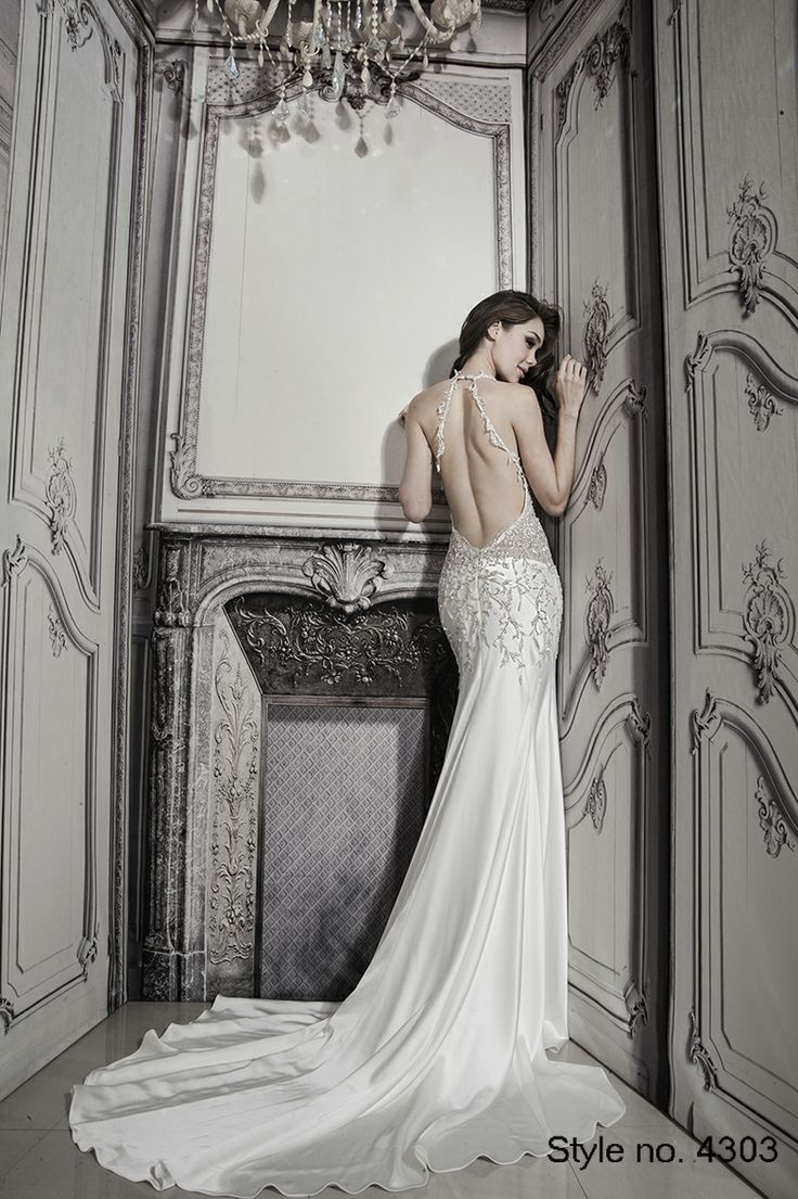73 best pnina tornai 2014 spring collection images on for No back wedding dress