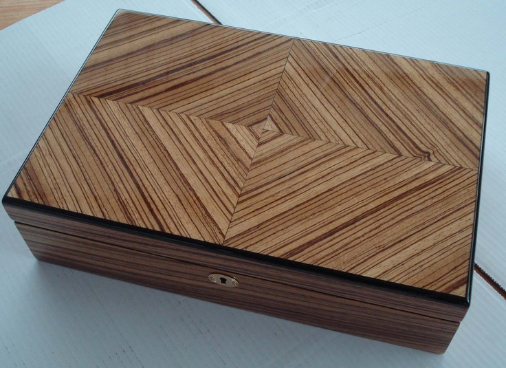 Jewelry box made from a vintage cigar box I  parquet'd - $35