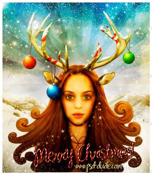 Создаем винтажную рождественскую открытку в Фотошоп