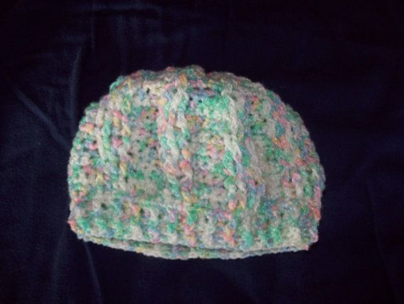 Cable Stitch Hat Size 18 Months by amydscrochet on Etsy