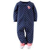 Votre bébé fille sera prête pour l'heure du jeu avec cette tenue une pièce pratique, présentant un motif à pois et de mignons renards aux pieds.<br>