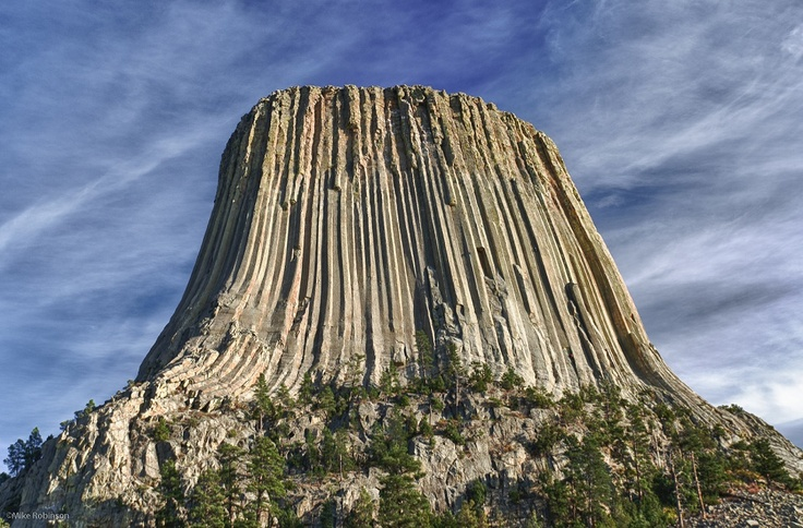 Devils Tower, a spectacular natural landmark in WyomingDeviled Towers Wyoming, Favorite Places, Nature, Rocks Formations, Amazing Lava, Lava Rocks, Landscapes, The Buckets Lists, Usa