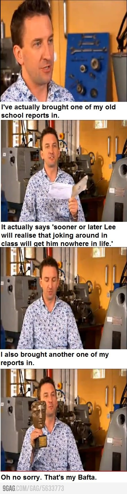 I'm not huge on Lee Mack really but this burn must've left such a scar