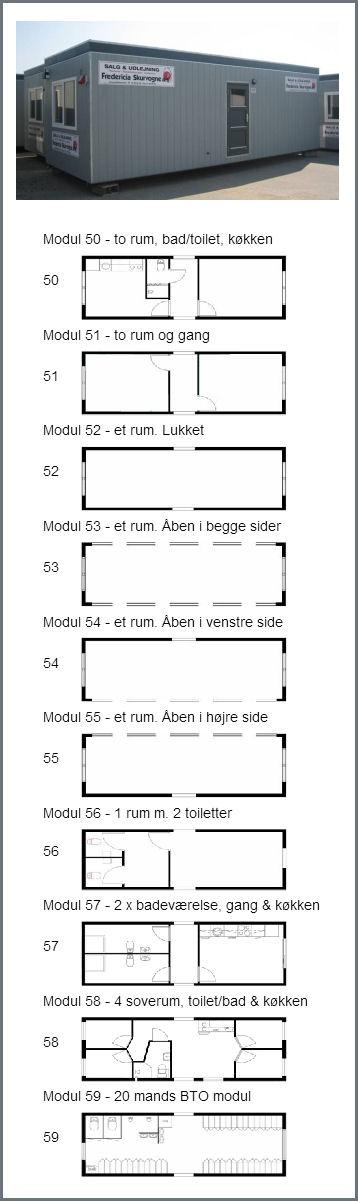Moduler  10 forskellige modeller, der kan bygges sammen.