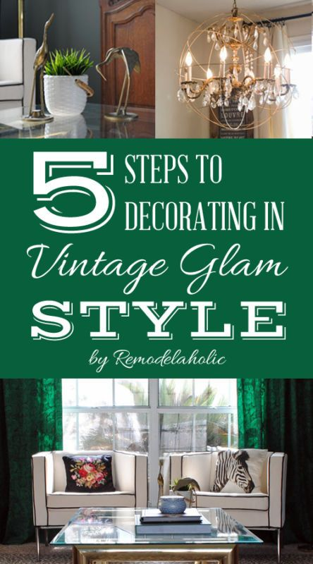 Vintage Glam! Such a fun decorating style -- a great eclectic combination that can work for anyone! #spon