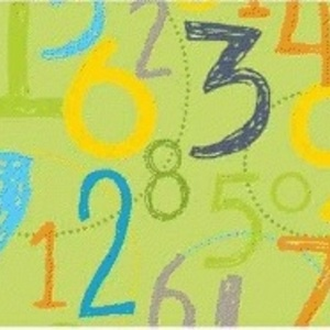 Little Yellow Bicycle - Babysaurus - Numbers in Olive