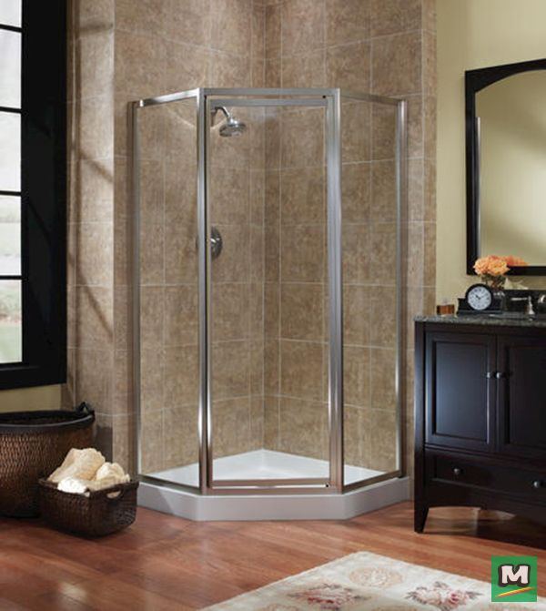 Bring fresh appeal to your bathroom with a Foremost® Tides Neo Angle Shower Door. With a tempered safety glass surrounded by an elegant frame and embellished with an integrated door handle, this shower door offers a sleek and stylish solution to your corner shower. This door even features a full-length magnetic strike for an optimal shower seal, so you can bathe in peace.