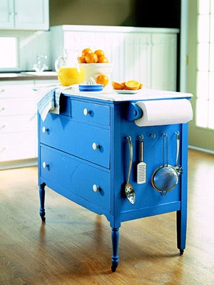 Dresser turned kitchen islandDecor, Ideas, Old Dressers, Small Kitchens, Kitchens Islands, Kitchens Carts, Diy, Kitchen Islands, Chest Of Drawers